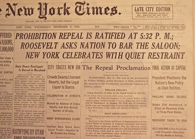 prohibition and repeal 18th 21st 21st amendment the 21st amendment repealed the 18th amendment, which was the prohibition of alcoholamendment 21 repeals amendment 18.