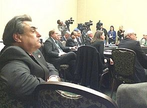 N.C. Sen. Bob Rucho listens Friday to the UNC Board of Governors discuss closing down three centers.