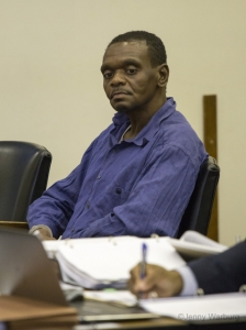 Henry McCollum listening to evidence of his innocence. Photo by Jenny Warburg / Courtesy of North Carolina Coalition for Alternatives to the Death Penalty.