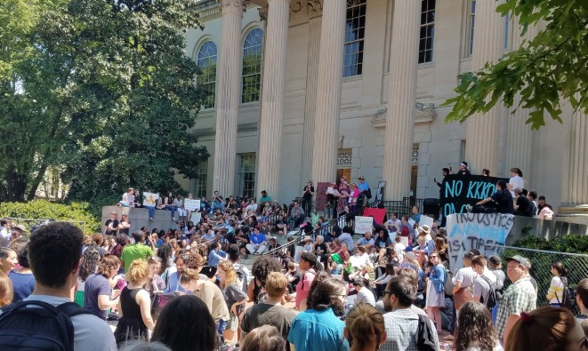 UNC-Chapel Hill students rally to demand change in campus policing