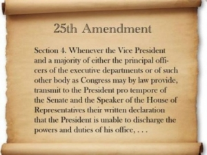 More on the 25th Amendment and how it might be invoked to ...